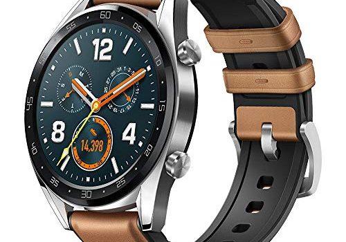 Saddle/braun – HUAWEI Watch GT Smartwatch, 1,39″ AMOLED Touchscreen GPS Fitness Tracker Herzfrequenzmessung,5 ATM wasserdicht