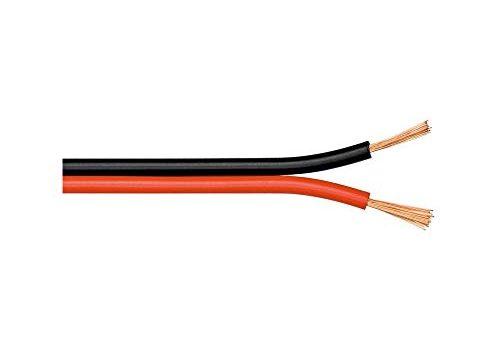 Goobay 15022  Lautsprecherkabel mit Leiter 2 x 0,75mm² , 100 Meter, Rot/Schwarz