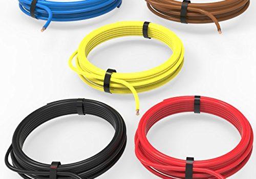 AUPROTEC Fahrzeugleitung 0,50 mm² Set 5 Farben à 5m FLRY-B als Ring