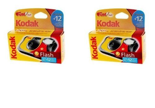 Kodak Fun Saver Disposable Single Use Camera with Flash – 39 Pictures / Exposures – EXTRA VALUE TWIN PACK