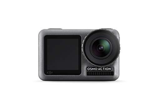 DJI Osmo Action Cam Digitale Actionkamera mit 2 Bildschirmen 11m wasserdicht 4K HDR-Video 12MP 145° Winkelobjektiv Kamera Schwarz OSMO Action