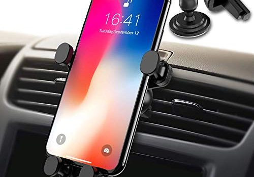 Syncwire Handyhalterung Halter Auto Handyhalter – Universale Autohalterung Lüftung Lüftungsschlitz Belüftung Auto Phone Halterung Handy Halter für iPhone, Samsung, Huawei und mehr 4,7-6 Zoll Telefone