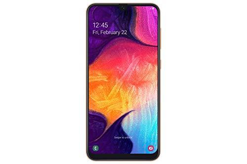 Samsung Galaxy A50 Smartphone 16.3cm 6.4 Zoll 128GB interner Speicher, 4GB RAM, Orange – Deutsche Version