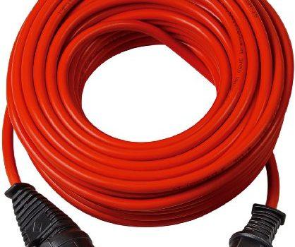 Brennenstuhl Bremaxx Verlängerungskabel 50m Kabel, für den kurzfristigen Einsatz im Außenbereich IP44, einsetzbar bis -35°C, öl- und UV-beständig rot