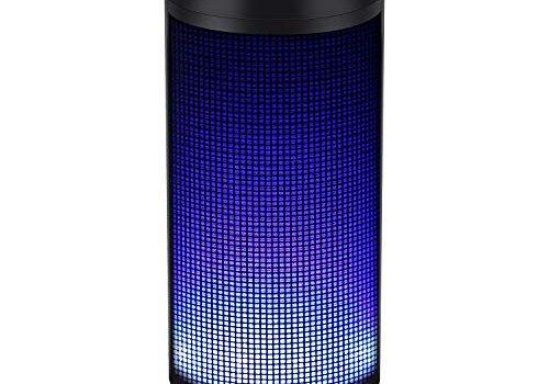 Verpackung MEHRWEG – Bluetooth Lautsprecher Musikbox Tragbarer LED Bluetooth Box mit Freisprechfunktion für Handy und PC FM Radio Mikro-SD und USB Kabellos von ELEHOT