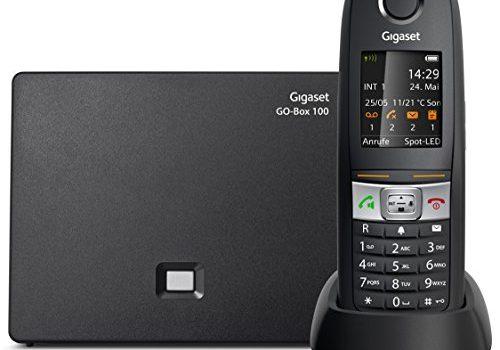DECT-Telefon für Router, schwarz – Analog und IP-Telefon, Fritzbox kompatibel, robustes Mobilteil mit wasserfester Tastatur – Gigaset E630A GO – Schnurlostelefon mit Anrufbeantworter