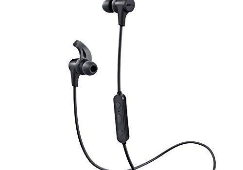 Bluetooth Kopfhörer, AUKEY Sport Kopfhörer Kabellos Kräftiger Bass, In Ear Ohrhörer mit Mikrofon, 8 Stunden Spielzeit, Schweißresistenz, Fitness Headset für iPhone, Samsung, Huawei