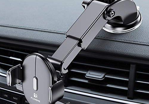 FLOVEME Handyhalter fürs Auto, 2 in 1 Universal Handyhalterung Auto Mit Saugnapf für Armaturenbrett & Windschutzscheibe, 360°KFZ Halterung für iPhone 7 8 X XR XS Plus Samsung S8 S9 S7 Note 8 9 usw.