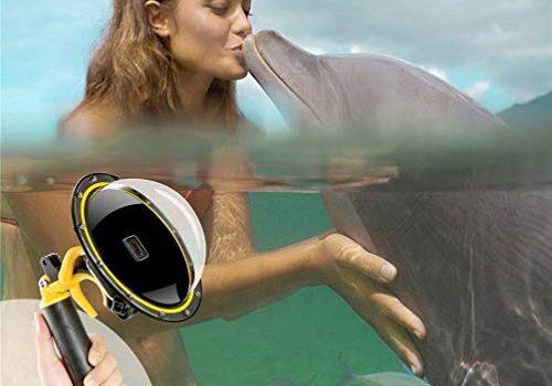 Für Gopro Dome Hero 5 6 7 2018 Wasserdichtes Gehäuse, Sport Action Kamera GoPro Zubehör Dome Port Abdeckung Unterwassergehäuse Objektive mit schwimmendem Griffset