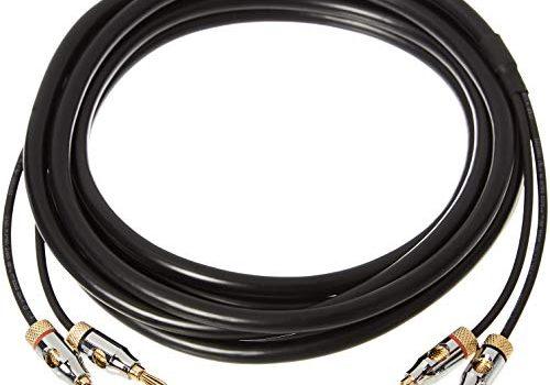 99,9% Sauerstoff-frei, 3,6 m – AmazonBasics – CL2 – Lautsprecher-Kabel mit Gold-beschichteten Bananensteckern