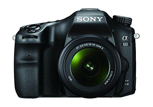 Sony ILCA68K.CEC Alpha 68 A-Mount Digitalkamera 24 Megapixel, 6,7 cm 2,7 Zoll Display, 79-Phasen AF-Messfelder inkl. SAL-1855 Objektiv schwarz
