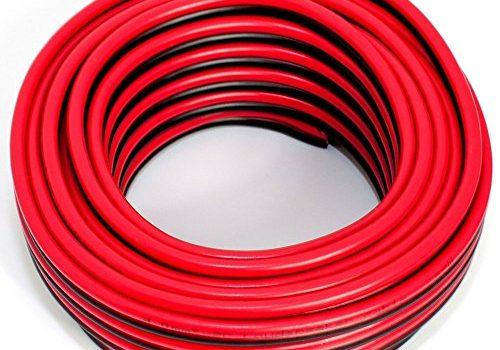 10m – Lautsprecherkabel 2×4,00mm2 – Boxenkabel – CCA – Audiokabel – rot-schwarz