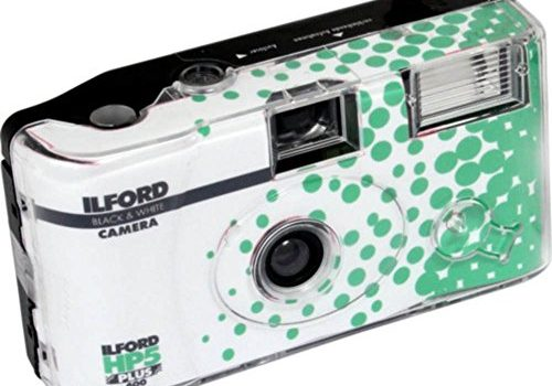 Ilford HP5+ Einwegkamera mit Blitz, Weiß und Schwarz