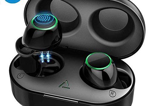 Mpow Bluetooth Kopfhörer Kabellos, NEUE VERSION In Ear Ohrhörer Sport Kopfhörer Headset Wireless Earbuds BT 5.0 Touch-Control/ IPX7/ 2 Modi/21 St. Spielzeit mit Ladebox kompatibel mit iPhone Android
