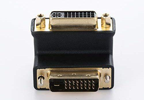 DVI-I Buchse auf DVI-D Stecker rechtwinklig