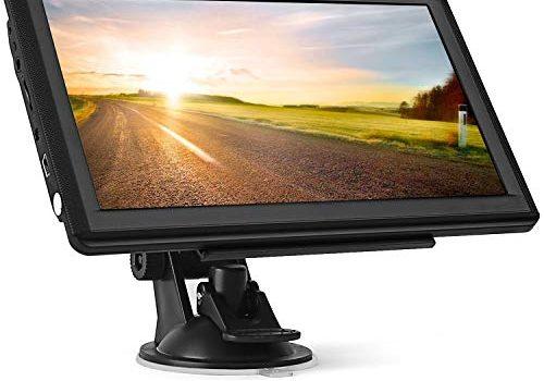 GPS Navi Navigation für Auto,Tenswall 7 Zoll 8GB 256MB Touchscreen Navigationsgerät für LKW PKW KFZ,POI Blitzerwarnung Sprachführung Fahrspurassistent 2019 Europa Karten