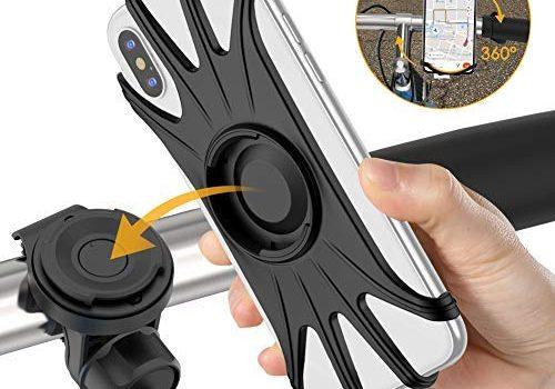 Handyhalterung Fahrrad,abnehmbar 360°verstellbare Fahrrad Handyhalterung, universal Motorrad Handyhalterung für Allen Handy,Full Screen freundliche Handyhalter für Rennrad MTB Motorrad Kinderwagen