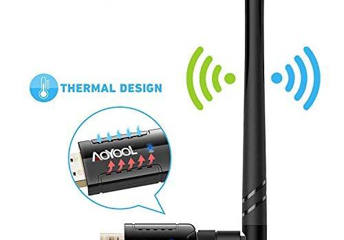 Aoyool WiFi Adapter 1200Mbit/s 5.8G/867Mbps+2.4G/300Mbps, WLAN Adapter USB3.0 Wireless Adapter für Windows, Mac OS X, PC/Desktop/Laptop