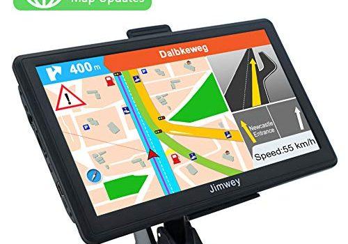 GPS Navi Navigation für Auto LKW PKW 7 Zoll 8GB 256MB Lebenslang Kostenloses Kartenupdate Navigationsgerät mit POI Blitzerwarnung Sprachführung Fahrspurassistent Europa UK 52 Karten