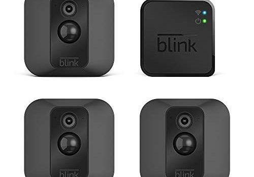 Blink XT System für Videoüberwachung, mit Bewegungserkennung, Befestigungsset, HD-Video, 2Jahre Batterielaufzeit, inkl. Cloud-Speicherdienst, Drei-Kamera-System