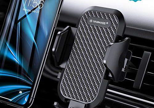 VANMASS Handyhalterung Auto Handyhalter fürs Auto Lüftung Bombenfest Vertikal & Horizontal mit Ausdehnbarer Halterfüße Universal für iPhone Samsung Huawei Oneplus und andere Smartphone 2019 Upgrade
