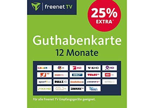 Guthabenkarte zur Verlängerung von freenet TV für 12 Monate Gutschein, Voucher, Aktivierungskarte
