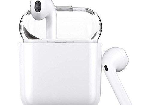 Weiß – Luvfun Bluetooth Kopfhörer V5.0, In-Ear-Ohrhörer mit Tragbarer Ladekästchen,Super Stereo Bluetooth In-Ear-Kopfhörer,kompatibel mit Allen intelligenten Geräten