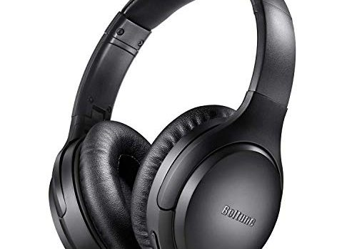 Active Noise Cancelling Kopfhörer, Boltune Kabellos Bluetooth 5.0 Over Ear Ohrhörer Wireless ANC Headset mit CVC 8.0 Geräuschunterdrückendes Mikrofon 30 Std Spielzeit für iOS Android TV