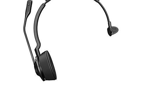Jabra Engage 75 Mono Wireless-Profi-Headset mit DECT/Bluetooth für 5 Endgeräte Softphone/Festnetz- + Analog-Telefon/Handy/Tablet, inkl. Ladeschale
