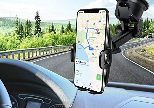 Mpow Handyhalterung Auto Handyhalter fürs Auto KFZ Smartphone Halterung,2 in 1 Auto Handyhalter,Amaturenbrett Auto Halter,Windschutzscheib Kfz Handyhalterung für iPhoneXS,Galaxy9/8,HTC,LG,Google usw