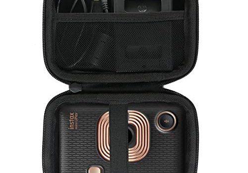 Khanka case Tasche Schutzhülle für Fujifilm Instax Mini LiPlay hybrid Sofortbildkamera. inneres Schwarz