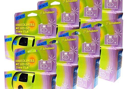 8x PHOTO PORST Einwegkamera / Partykamera / Hochzeitskamera je 27 Fotos, mit Blitz, 8-er Pack
