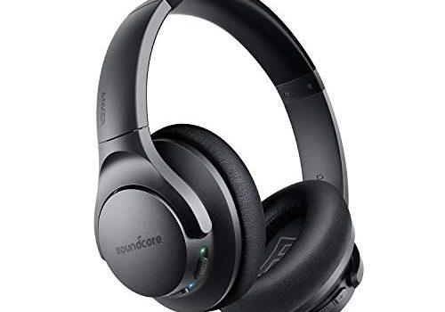 Soundcore Life Q20 Bluetooth Kopfhörer, Aktive Geräuschunterdrückung, 30 Stunden Wiedergabezeit, Hi-Res Audio, Intensiver Bass, kabellose Over-Ear Kopfhörer für Reisen, Arbeit und mehr