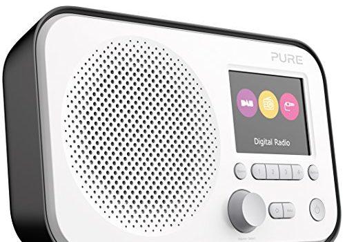 Pure Elan E3 Digitalradio DAB/DAB+ Digital und UKW-Radio mit Weckfunktionen, Küchen- und Sleep-Timer, 2,8-Zoll-TFT-Farbdisplay, 40 Senderspeicherplätze, Schwarz