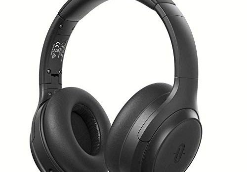 Active Noise Cancelling Kopfhörer TaoTronics Bluetooth 5.0 Kabellos Kopfhörer Over Ear ANC Tiefer Bass mit CVC Geräuschunterdrückendes Mikrofon 30 Std. Spielzeit Wiedergabedauer für Reisen Fahren Büro