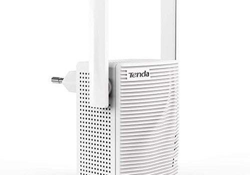 N300 WLAN Repeater mit zwei Antennen für maximale Abdeckung 300 Mbit/s, 1x LAN-Port, LED, WPS, kompatibel mit allen WLAN Routern – Tenda A301