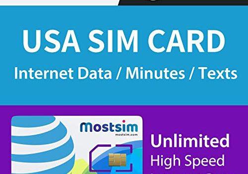 MOSTSIM – AT&T USA SIM-Karte 21 Tage, unbegrenztes Highspeed-Datenvolumen/unbegrenzte Anrufe/Textnachrichten, AT&T-Netzwerk für die USA