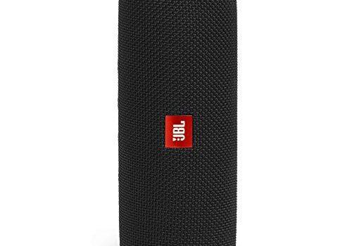 JBL Flip 5 Bluetooth Box Wasserdichter, portabler Lautsprecher mit umwerfendem Sound, bis zu 12 Stunden kabellos Musik abspielen schwarz