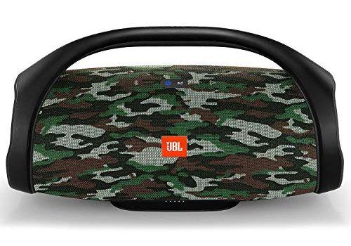 JBL Boombox in Camouflage Wasserdichter Bluetooth-Lautsprecher mit integrierter Powerbank – Kabelloses Musikstreaming – Bis zu 24 Stunden Musikgenuss mit nur einer Akku-Ladung