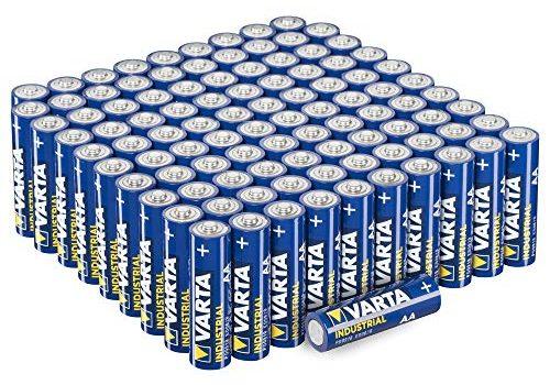 Varta Industrial AA Mignon Alkaline Batterien LR6 – 100er Pack, umweltschonende Verpackung