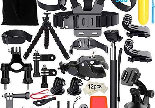 Appolab Action-Kamera Zubehör Bundle Set, Gopro Zubehör für den Outdoor-Sport, Kompatibel mit GoPro Hero 7 6 5 4 3+ 3 2 1, Hero Session 5 Black AKASO VicTsing Apeman WiMiUS Rollei.