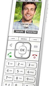 AVM Fritz!Fon C6 DECT-Komforttelefon hochwertiges Farbdisplay, HD-Telefonie, Internet-/Komfortdienste, Steuerung Fritz!Box-Funktionen weiß, deutschsprachige Version