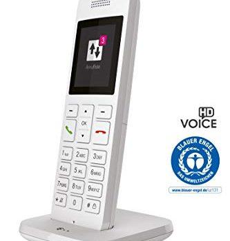 Telekom Festnetztelefon Speedphone 12 in Weiß schnurlos | Zur Nutzung an aktuellen Routern mit integrierter DECT-CAT-iq Schnittstelle z.B. Speedport, Fritzbox, 5 cm Farbdisplay