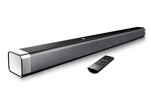 Soundbar 2.0 Kanal,BOMAKER 110 dB 37 Zoll Lautsprecher Bluetooth mit Eingebaute Bass,DSP für TV mit AUX,USB,Optischer Anschluss Heimkino,Party-Schwarz …