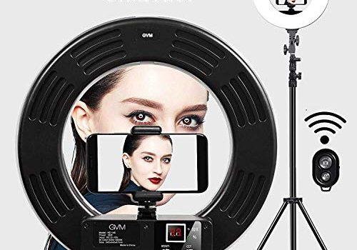 GVM Ringleuchte Licht Set,18 Zoll Bicolor 3200-5600K, LED Ringlicht Lampenstativ,Blitzlicht Lampe für YouTube,Photography Studio,Makeup, Smartphone,Videoaufnahme, Porträt,Selfie LED Ring Light Kit