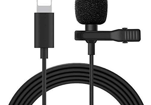 Mikrofon Doppelkopf-Aufnahmeclip am Mikrofon Minimikrofon, kompatibel mit Telefonen der Serien XS/XR/X / 8/7/6/5 / Pad Air