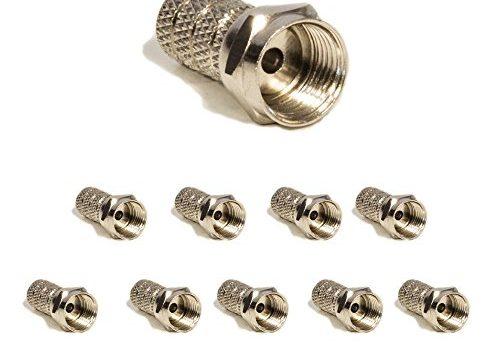 PremiumX 10x F-Stecker 4 mm Set Für Koaxialkabel Antennenstecker Sat Empfang