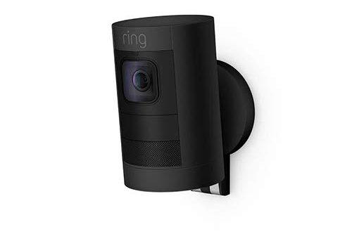 Ring Stick Up Cam Battery HD-Sicherheitskamera mit Gegensprechfunktion, Schwarz, funktioniert mit Alexa