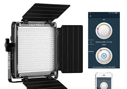 GVM LED Videoleuchte, APP Steuerung Zweifarbige CRI97 Videolicht 2300K-6800K für Studio YouTube Fotografie Interview,LED Fotografie Beleuchtungsfeld Kontinuierliche Beleuchtung