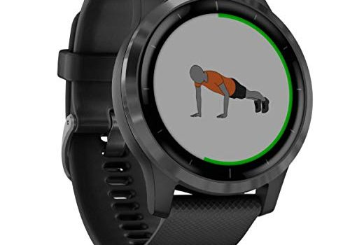 Garmin Unisex– Erwachsene vívoactive 4 GPS-Fitness-Smartwatch, Schiefer/Grau, M